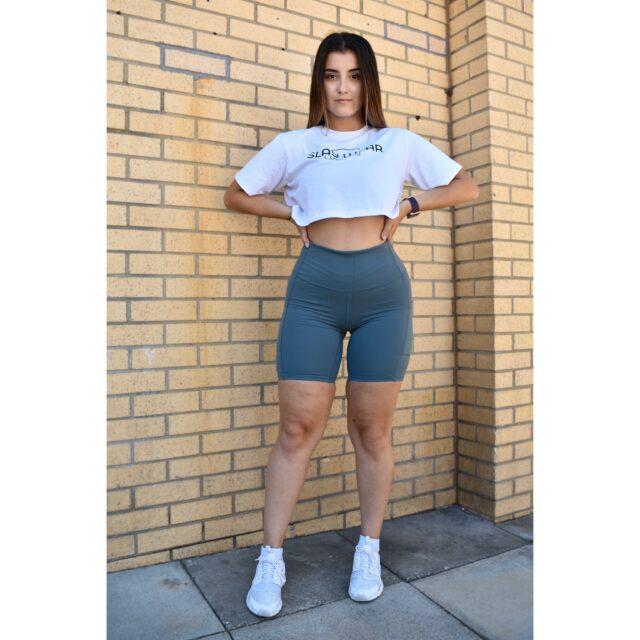 Grey Shorts | Top Cycle Slay Shorts Near Me | Slay Wear London